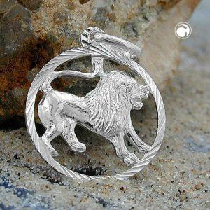Pendentif zodiaque lion argent 925 Krossin bijoux en argent 91008x
