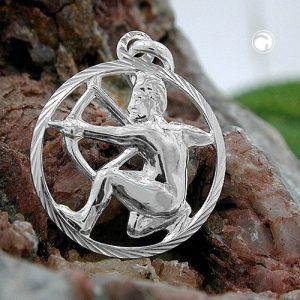 Pendentif zodiaque sagittaire argent 925 Krossin bijoux en argent 91012x