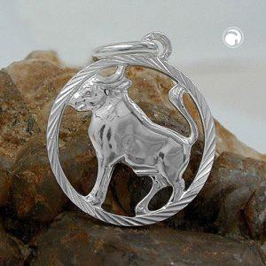Pendentif zodiaque taureau argent 925 Krossin bijoux en argent 91005x