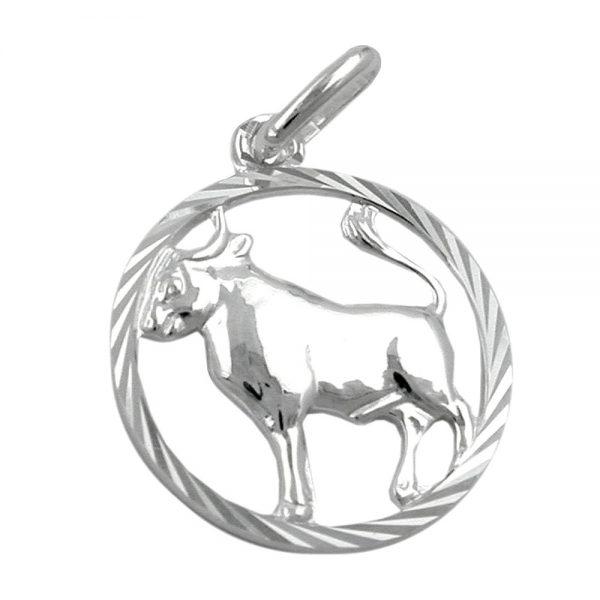 Pendentif zodiaque taureau argent 925 Krossin bijoux en argent 91005xx