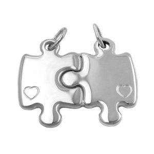 Pendentifs amitie double puzzle 925 Krossin bijoux en argent 91624xx