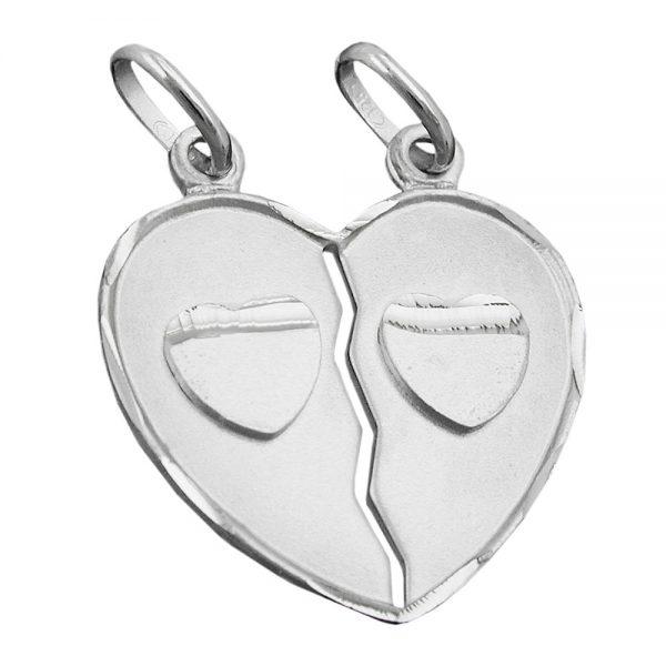 Pendentifs damitie coeur argent 925 Krossin bijoux en argent 93414xx