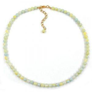 Perle chaine perles 6mm vert blanc 01669xx