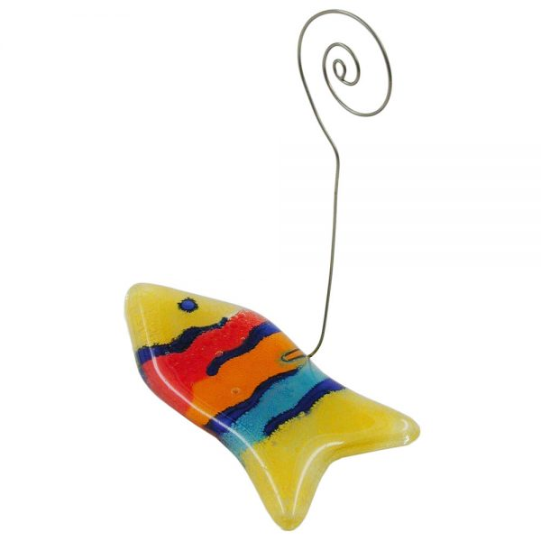 Porte memo poisson multicolore 70363xx