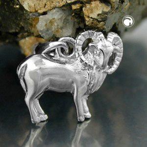 Signe du zodiaque pendentif belier argent 925 Krossin bijoux en argent 93144x