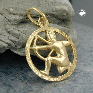 Signe du zodiaque pendentif sagittaire or 9 carats Krossin bijoux or 430455x