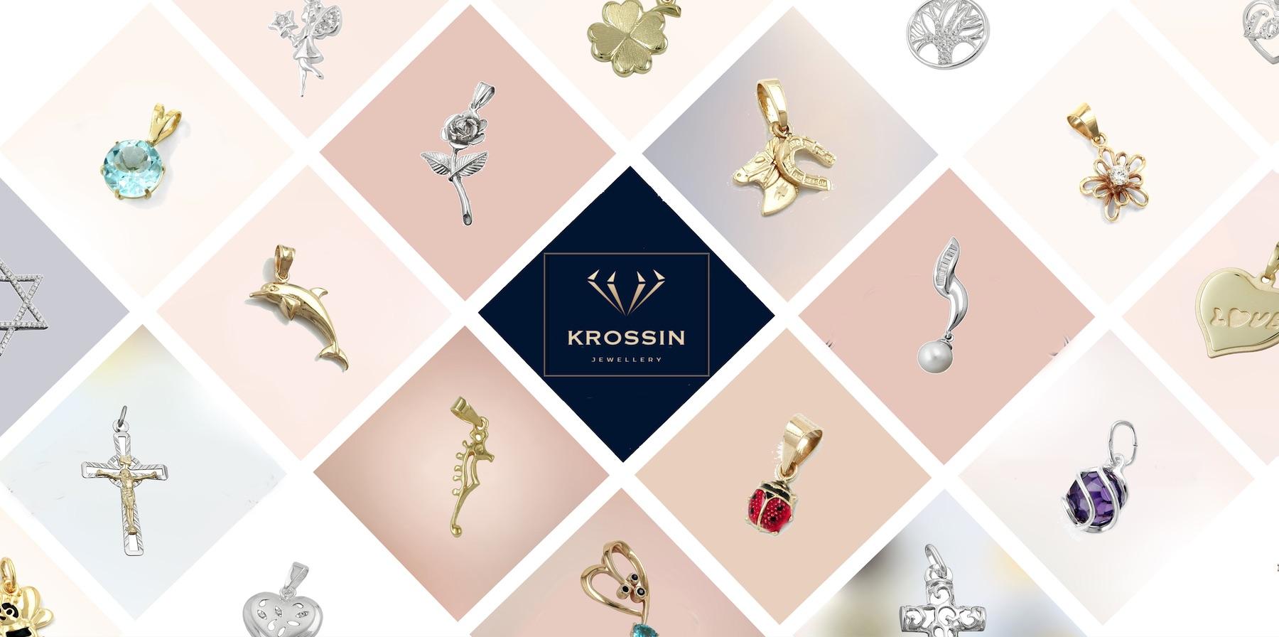 Krossin Bijouterie - pendentifs croix - bijoux enfants - créoles or