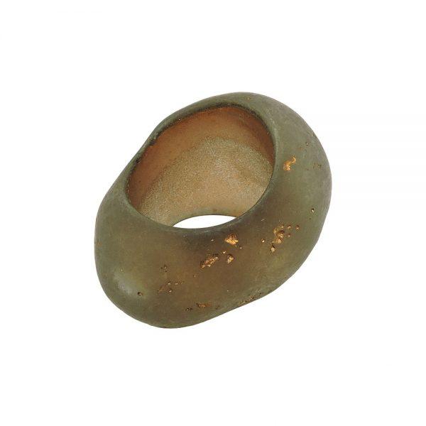 echarpe perle boue marron or couleur 33mm 02432xx