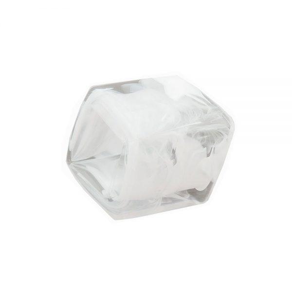 echarpe perle cubique en forme de cristal blanc 04240xx