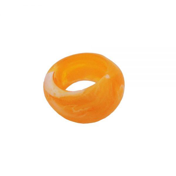 echarpe perle jaune 28mm 02557xx