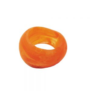 echarpe perle jaune orange 28mm 02558xx