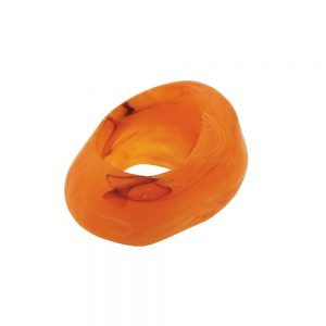 echarpe perle orange 33mm 02427xx