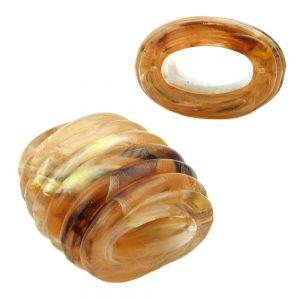 echarpe perle spirale marquage corne jaune marron 00584xx