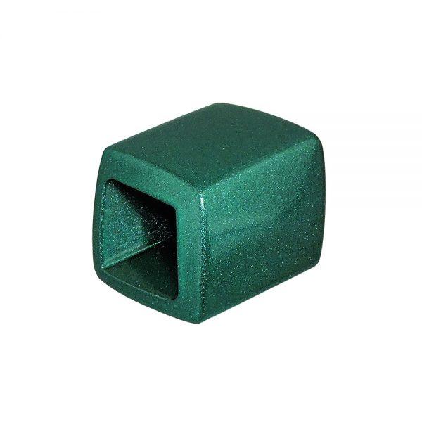 echarpe perlee inclinee vert fonce metallique  04242xx