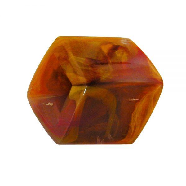 echarpe perlee marron marbre 00980xx