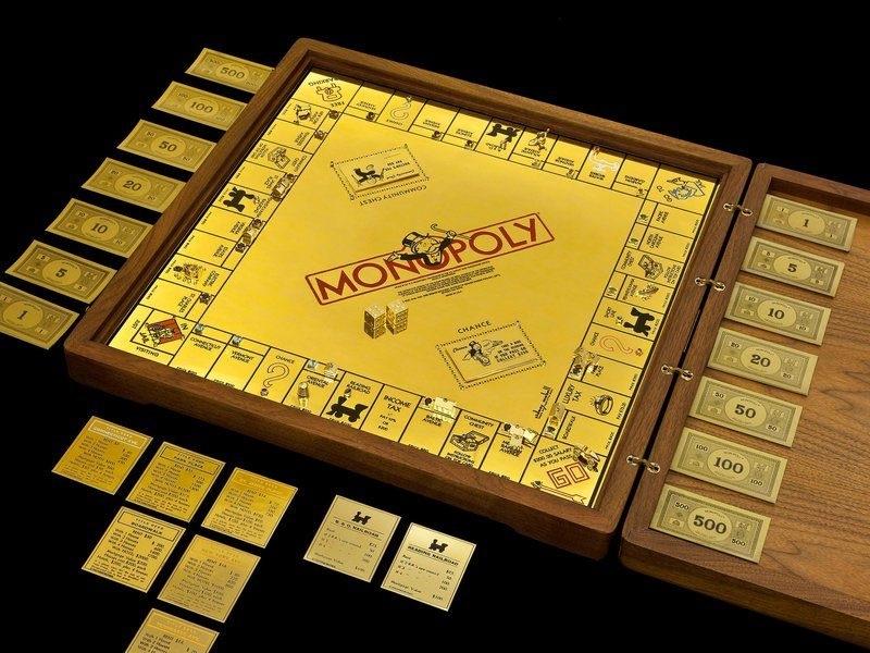 Monopoly en or Jouets les plus chers du monde- Krossin Bijoux pour enfants